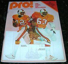 1979 TAMPA BAY BUCCANEERS BUCS v ATLANTA FALCONS NFL PROGRAM Very Good Condition
