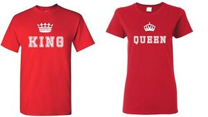 King and Queen Shirts Valentines Day Gift Couple Matching Set Love Anniversary