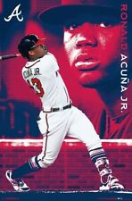 RONALD ACUNA - ATLANTA BRAVES POSTER - 22x34 - MLB BASEBALL 17617