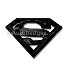1- NEW 3D DC SUPERMAN HOPE S Man of Steel Badge Emblem (Super Man GLOSS BLACK)