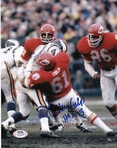CURLEY CULP Signed Autograph Auto 8x10 Photo Picture Kansas City Chiefs PSA ITP