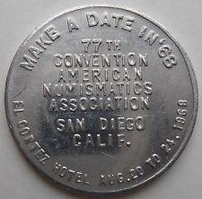 77th CONVENTION AMERICAN NUMISMATICS SAN DIEGO EL CORTEZ HOTEL 1968