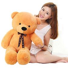 Giant Big Huge Stuffed animals ribbon brown Teddy Bear Plush toys Doll Gift 80cm