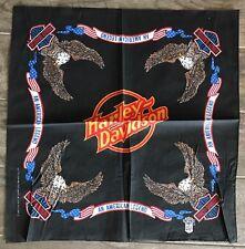 "VINTAGE New Harley Davidson  Bandana ""An American Legend"" Eagle Scarf"