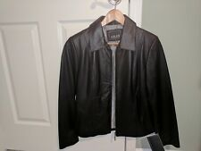Adler Women's Genuine Leather Jacket Small Black New