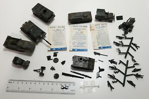 Lot of 8 - Vintage 1970's HO Scale DBGM ROCO Army Tanks, Trucks - Plus Soldiers!