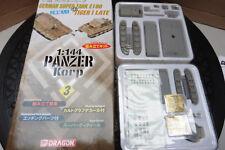 DRAGON 1/144 PANZER KORPS GERMAN SUPER TANK E100 & TIGER I LATE BOXED WARGAMES