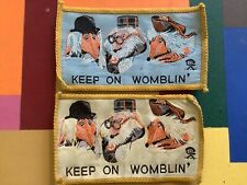 More details for wombles keep on womblin vintage cloth badge ref3