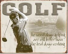 Golf Best Day Inspirational Funny Retro Bar Sports Wall Art Metal Tin Sign New