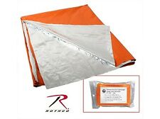 LARGE ORANGE SILVER POLARSHIELD CAMPING HUNTING RESCUE WARM SURVIVAL BLANKET
