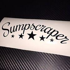 GLOSS BLACK Sumpscraper Car Sticker Decal JDM Drift VDUB Stance Low Air Bagged
