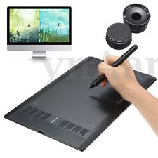 """UGEE M708 10""""x6"""" Art Drawing Graphics Tablet + Pen + USB Wire For Windows Mac OS"""