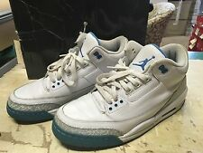 USED WOMENS NIKE AIR JORDAN 3 RETRO WHITE 315296 142 SZ 12 MAX AIR FREE