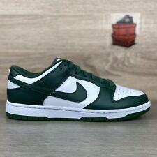 Nike Dunk Low Michigan State UK 8.5 Team Green Spartan White
