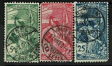 Switzerland SC# 98-100, Used, 99 and 100 have creased perfs - Lot 061817