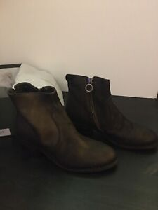 Fiorentini Baker Authentic Womens Brown Leather Ankle Boots Italy Size 6.5 (37)