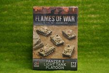 Flames of War Panzer II LIGHT TANK PLATOON 15mm GBX102
