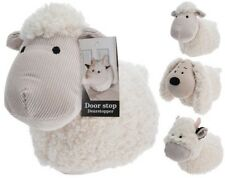 Soft Fluffy Fabric Door Stop Animal Cuddly Doorstop Home Office Sheep/ Cow/ Dog