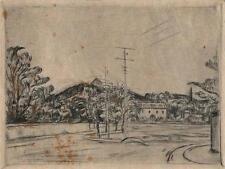KARL KRONER Signed Etching IMPRESSIONIST LANDSCAPE 1914