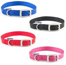 Ancol Heritage Soft Puppy Dog Nylon Strong Collar 20- 26cm Size 1 Red 310020