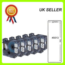 5x D1 tape 45013 black/white 12mmx7m Compatible for DYMO label manager printers