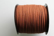 10 METERS CHOCOLATE COLOUR SUEDE LEATHER CORD