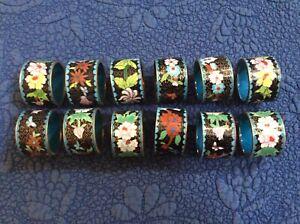 set of 12 Cloisonne' napkin rings