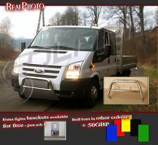 FORD TRANSIT 2006-2012  BULL BAR NUDGE BAR  A BAR   !!!  STAINLESS STEEL