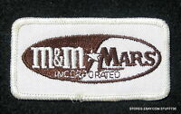 "M & M MARS CANDY COMPANY EMBROIDERED SEW ON PATCH ADVERTISING 3 1/4"" x  1 3/4"""