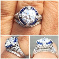 2.5 Ct Diamond Vintage Edwardian Antique Engagement Filigree Ring Era 1837's
