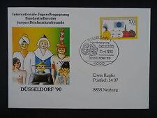 BRD/Bund FDC , Mi 1472 aus Block 21 , Briefmarkenausstellung Düsseldorf