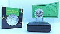 1992 $1 Proof Olympic Silver Dollar Barcelona Women in Sport Collectable Coin