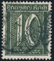 DR 1921, MiNr. 159 b, gestempelt, gepr. Dr. Oechsner, Mi. 350,-