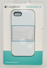 Logitech - protection [+] Case For iPhone 5/5s/SE - White/Blue