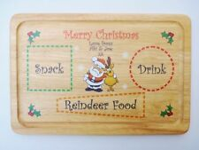 Christmas Eve Plate - Personalised Santa's Snack Plate - Xmas Gift Eve Box