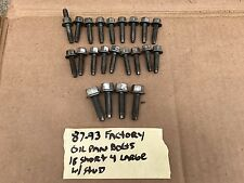 86-87-93-95 Ford Mustang 302 Oil Pan Bolts Set Complete Factory 5.0 SBF OEM