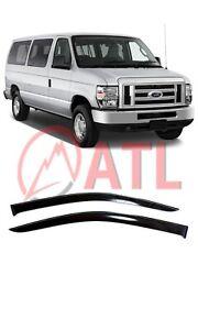 For Ford Econoline 1992-2013 Window Visors Side Sun Rain Guard Vent Deflectors