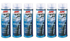6 bombes spray Vernis brillant 500ml peinture auto carrosserie