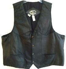 Vintage Levy's-Mens Leather Motorcycle Vest-MC Club Style Vest-Size Large, Lined