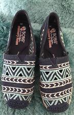 Women Skechers UK 5   3 Tones BOBS Memory Foam BN Embroidered Canvas Lace Design