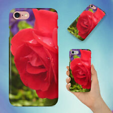 RED ROSE HARD BACK CASE FOR APPLE IPHONE PHONE