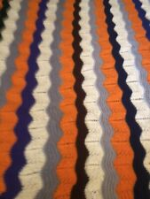 Hand Knit Afghan Lap Blanket, 54 x 54,  Washable, Brand New