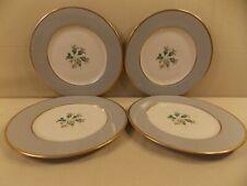 "Flintridge ""San Marino (Gold Trim, Rim)"" 4 Salad Plates"