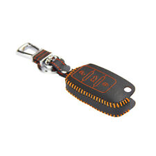 Leather Case Cover Holder For VW Golf Jetta Passat Eos Touareg Remote Flip Key