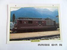 CARTE FICHE TRAIN RE 4/4 DU BLS 1964