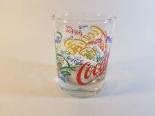 Coca-Cola Multi-Color Colorful Festive Logo Short Glass Tumbler Coke