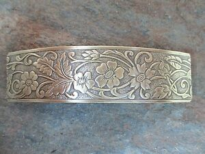 Antiqued French Clip Brass Hair Barrette 80MM Clip  Made in USA 6045B