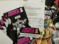 Marvel Comics INFINITY GAUNTLET Retailer Press Kit ::Endgame, Stan Lee, MCU::