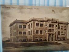 VINTAGE PHOTO POST CARD HIGH SCHOOL PASCO WASHINGTON