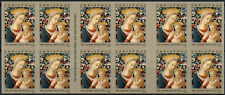 More details for usa christmas stamps 2020 mnh florentine madonna & child 20v s/a booklet